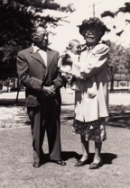 019-Tony and Bertha Moraga, with Toney III circa 1949
