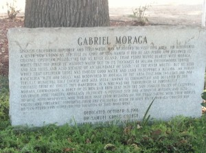Courtesy photo of information on Gabriel Moraga in Porterville in the southern Central Valley of California.